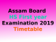 Assam Board HS exam 2019 datesheet