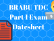 BRABU TDC Part 1 Exam Datesheet