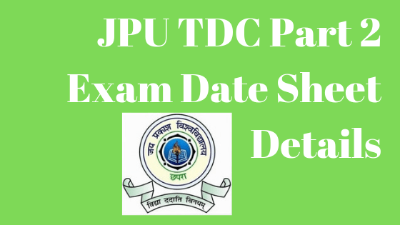 JPU Part 2 Exam date