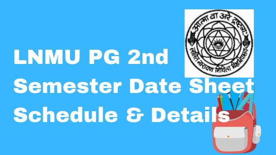lnmu pg 2nd semester date sheet