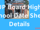 up board high school timetable 2020
