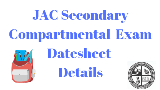 jac secondary compartmental exam date 2019