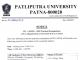 Patliputra University PG 1st semester Practical exam