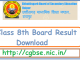 CGBSE Class 8th Result 2020