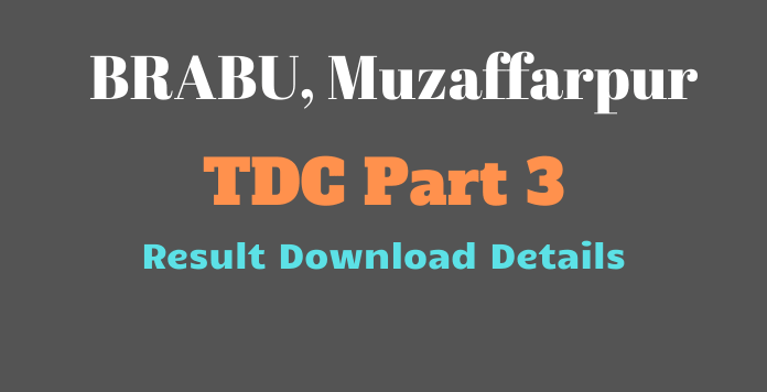 BRABU TDC Part 3 Result 2019