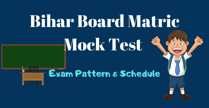 Bihar Board Matric Mock Test 2019-20 Schedule