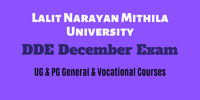 LNMU DDE Exam Program December 2018