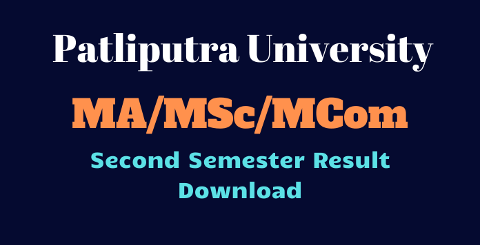 Patliputra University PG 2nd Semester Result 2020