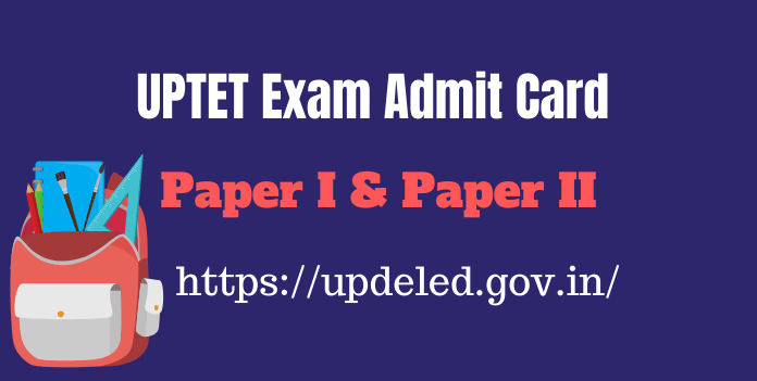UPTET Admit Card 2019