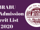 BRABU UG Admission Merit List 2020