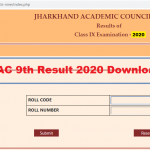 Jharkhand Board 9th Result 2020