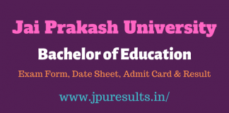 JPU BEd 1st Year Result 2020