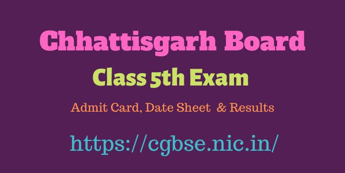 CGBSE Class 5th Result Download 2021