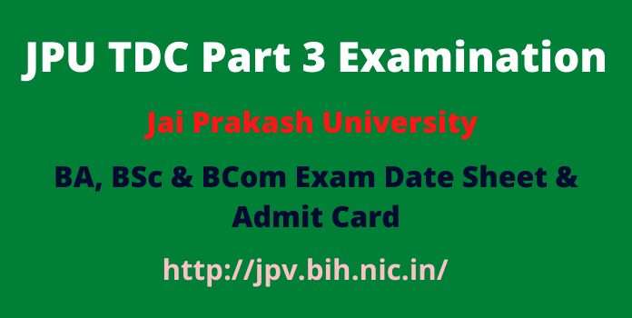 JPU TDC Part 3 Exam