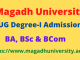 magadh university ug part 1 admission 2020