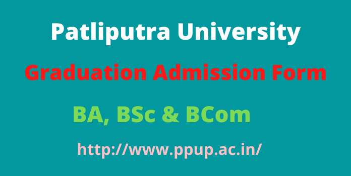 Patliputra University Part 1 Admission 2020