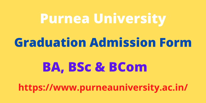 Purnea University Part 1 Admission 2020