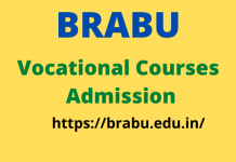 BRABU Vocational Courses Admission